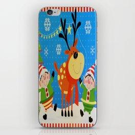Elves and Reindeer iPhone Skin