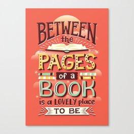 Between pages Canvas Print