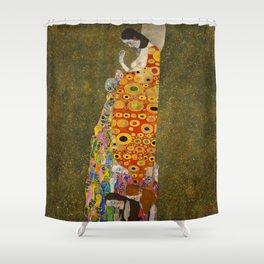 """Gustav Klimt """"Hope II"""" Shower Curtain"""