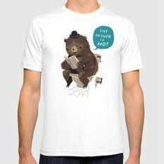 Does A Bear.. White Mens Fitted Tee SMALL