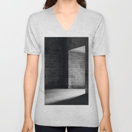 Scary view of hollow Unisex V-Neck