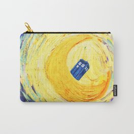 Tardis Flying With Circle Carry-All Pouch