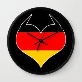 German Heart Germany Deutschland Horns product Flag Gift design Wall Clock