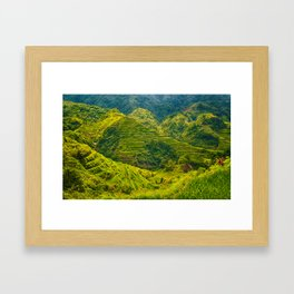 Banaue Rice Terraces Philippines Framed Art Print