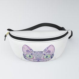 Chromatic Cat II (Purple, Blue, Pink) Fanny Pack