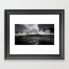 Tatio Geysers / Atacama  Framed Art Print