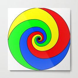 colorful fractal sphere Metal Print