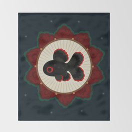 Butterfly goldfish Throw Blanket