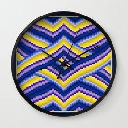 Bargello Quilt Pattern Impression 2 Wall Clock