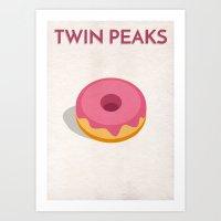 Twin Peaks Alternative Poster - Jelly Donut Art Print