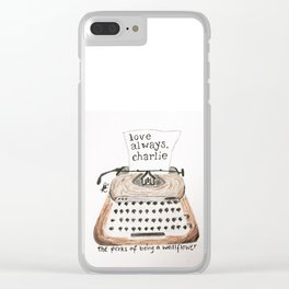 Typewriter Perks of being a Wallflower quote Clear iPhone Case
