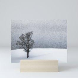 LONELY TREE Idyllic Winterlandscape Mini Art Print
