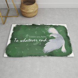 To Whatever End (Green) Rug