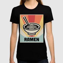 Vintage Style Ramen Poster T-Shirt
