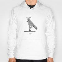 birdy Hoodies featuring Birdy by Orit Kalev