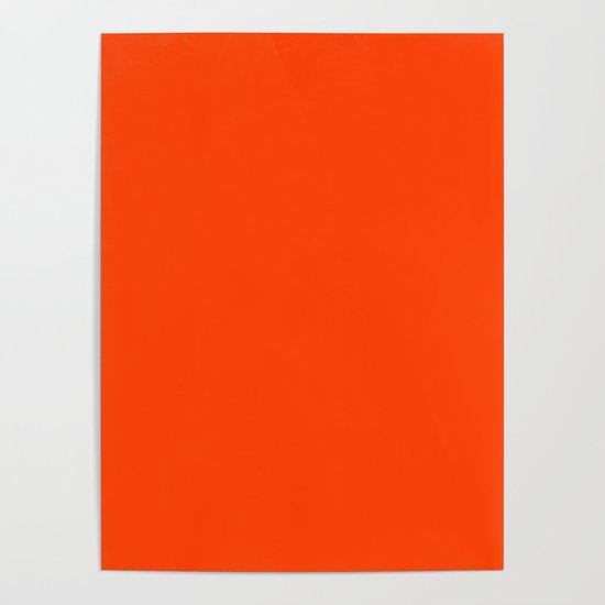 Bright Fluorescent Neon Orange by podartist
