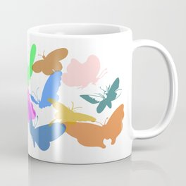 Colorful butterflies on white background Coffee Mug