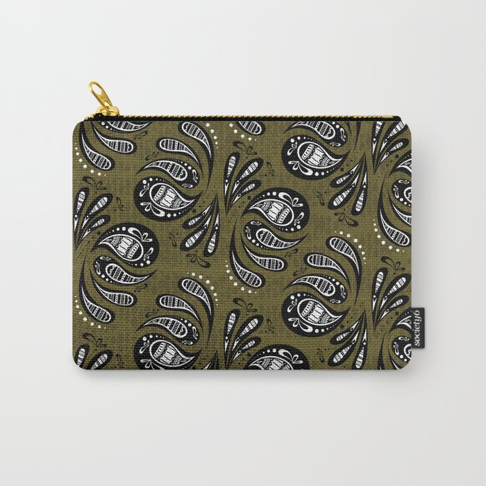 Exotic Tribal Green Carry-All Pouch