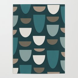 Turquoise Bowls Poster