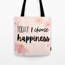 Happiness Quote Tote Bag