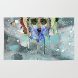 WOLF WATERCOLOR Rug