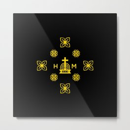Affluence and God's Protection - Gold and Black Metal Print