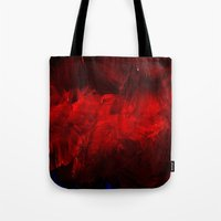 duvet cover Tote Bags featuring Red Duvet Cover by Corbin Henry