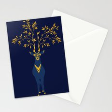 Golden deer Stationery Cards