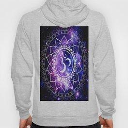 om mandala: purple blue space Hoody