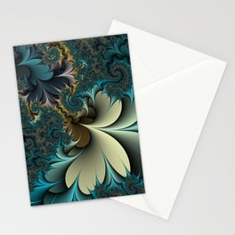 Birds of a Feather Fractal Stationery Cards