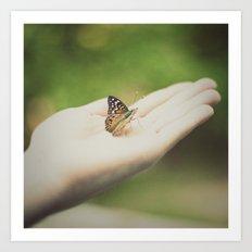 Flutter By Art Print