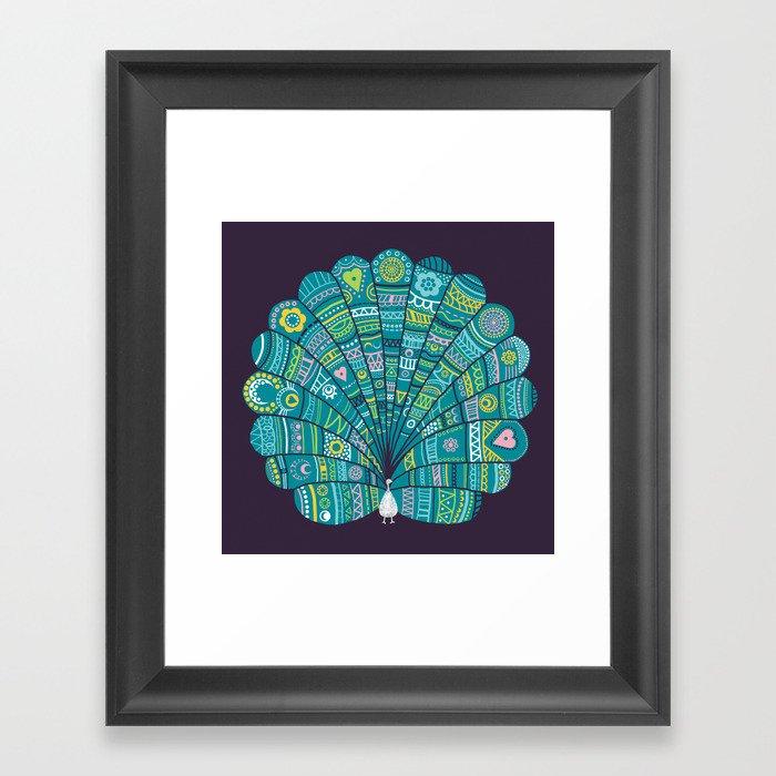Peacock at noon Framed Art Print