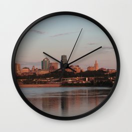 Downtown Kansas City at Sunset Wall Clock