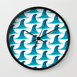 060 - Looking for the perfect wave pattern Wall Clock