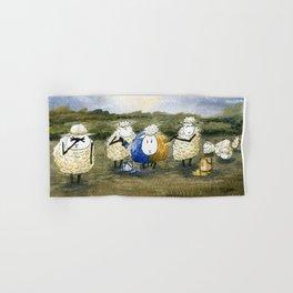 Sheep Painting Hand & Bath Towel