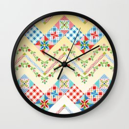 Country Days Zig Zag (printed) Wall Clock