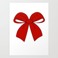 bow Art Prints featuring bow by  MuDi