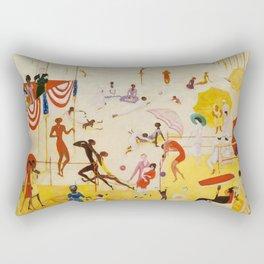"""Florine Stettheimer """"Asbury Park South"""" Rectangular Pillow"""