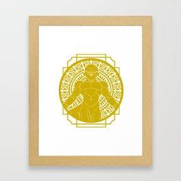 Stained Glass - Dragonball - Golden Frieza Framed Art Print