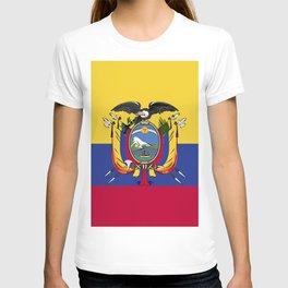 Ecuador flag emblem T-shirt