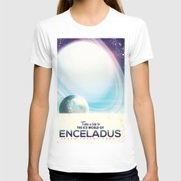 Enceladus Space Corp. Vacation poster T-shirt