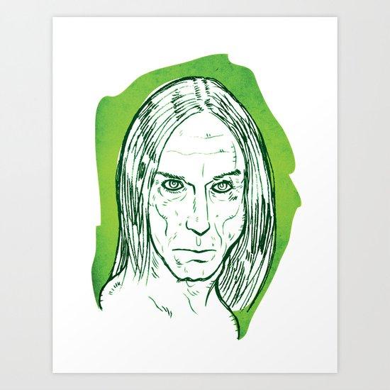 Iggy Pop! Art Print