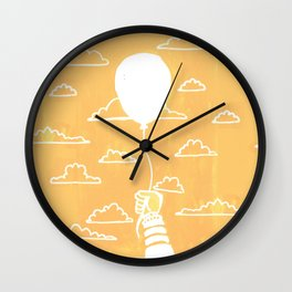 Cloudy Balloon Wall Clock