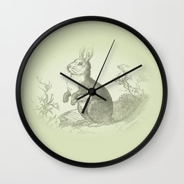 Bunny Rabbit {soft sage green} Wall Clock