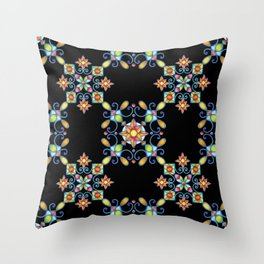 Ornamental Filigree Throw Pillow