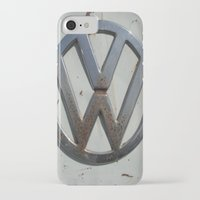 vw bus iPhone & iPod Cases featuring Rusty VW Bus Symbol by wildVWflower