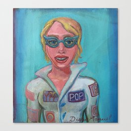 girl in pilot costume 3 Canvas Print