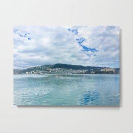 Wellington Harbour Paddle Boarders Metal Print