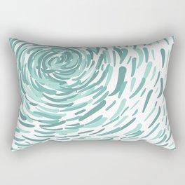 Aquamarine Stroke Circular Abstract Pattern Rectangular Pillow