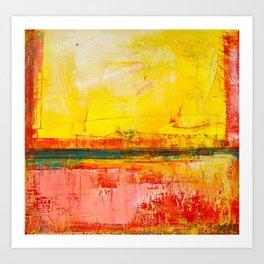 """Sunshine Landscape"" by Simon Brushfield Art Print"